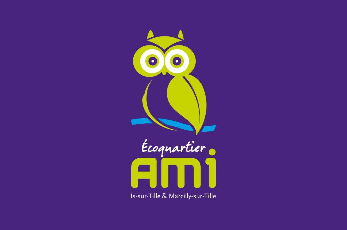 Création logotype Ecoquartier Ami