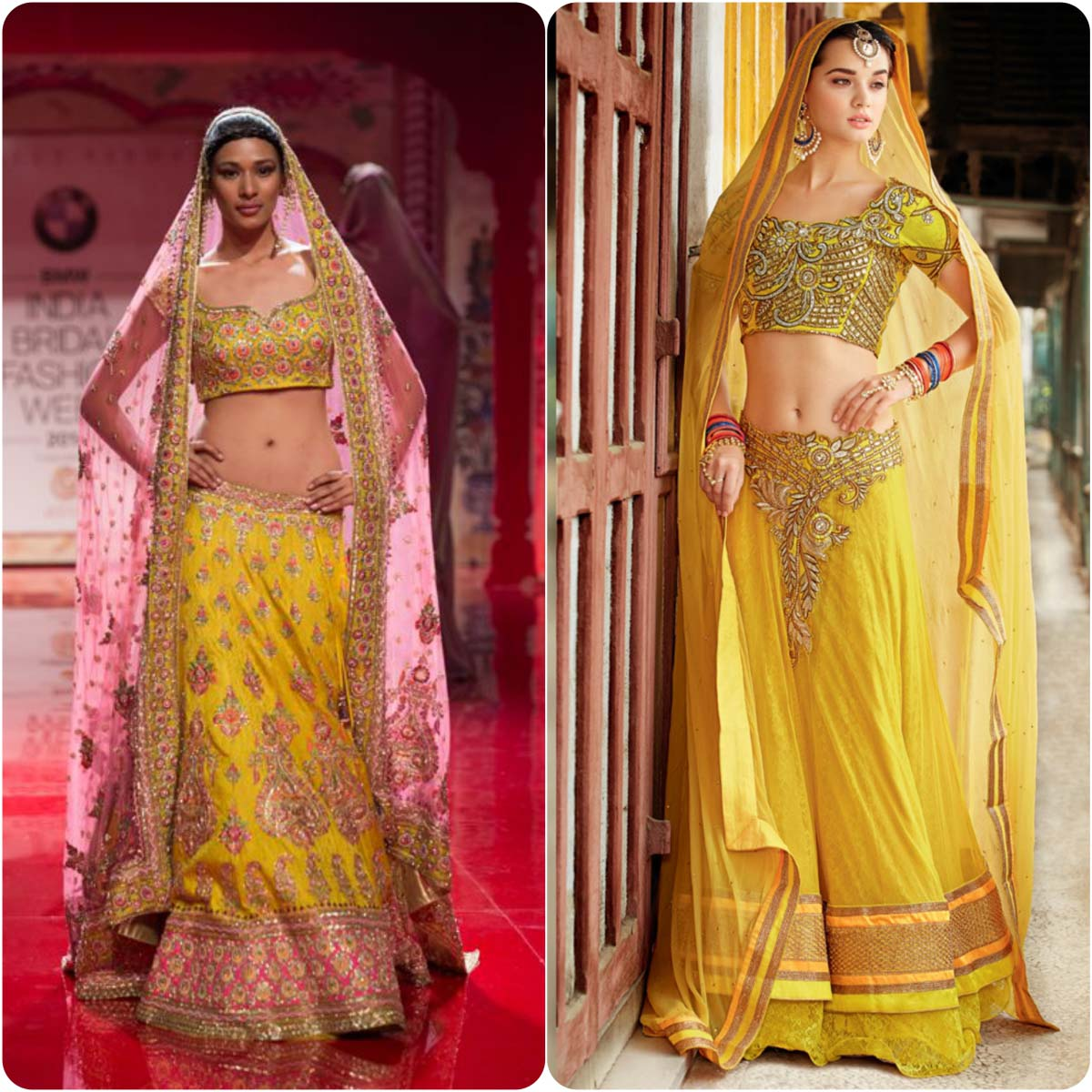 Bridal Mehndi Dresses In Yellow Color 2016 Stylo Planet