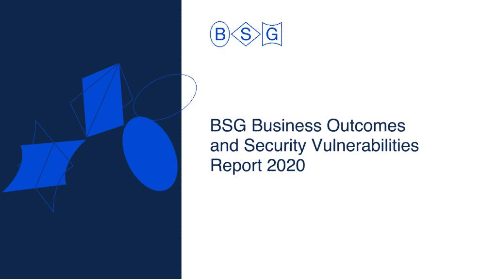 BSG vulnerabilities report 2020