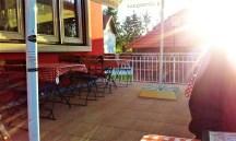 The sunny patio