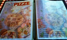 The big variety of the Pizza menu