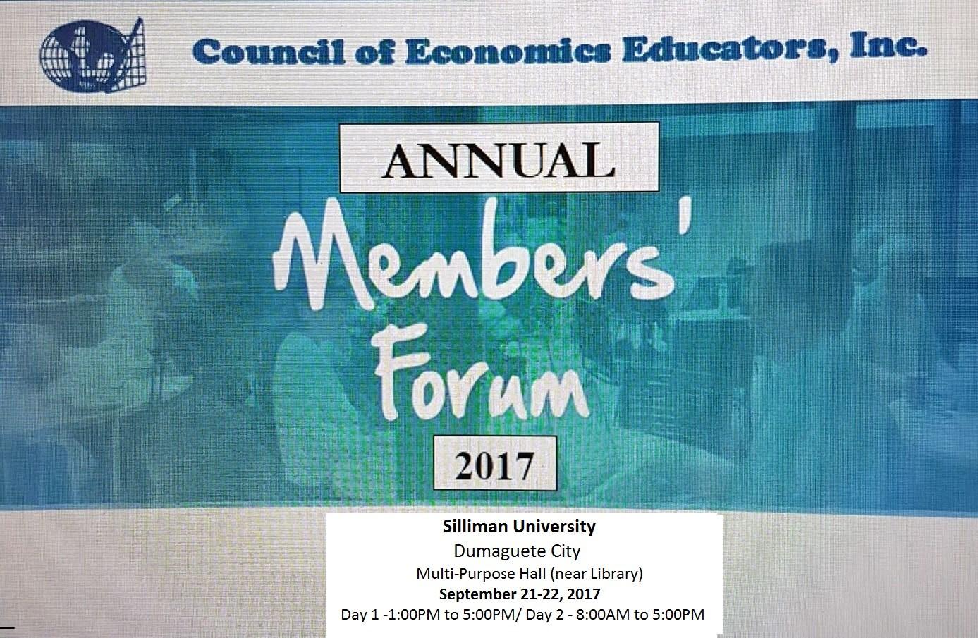 CECON Annual Visayas Regional Members' Forum & Seminar-Workshop