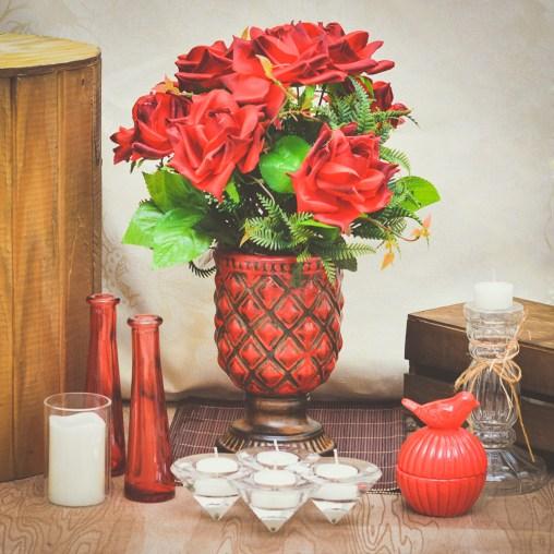 Arranjo de Rosas Artificiais - Formosinha Decorações