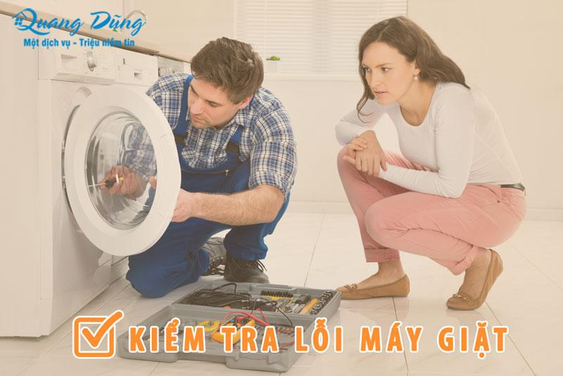 kiểm tra lỗi máy giặt electrolux