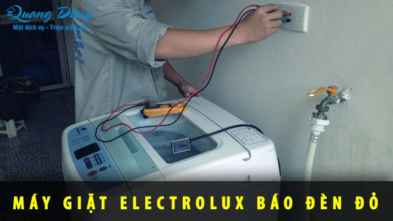sửa máy giặt electrolux báo lỗi đèn đỏ