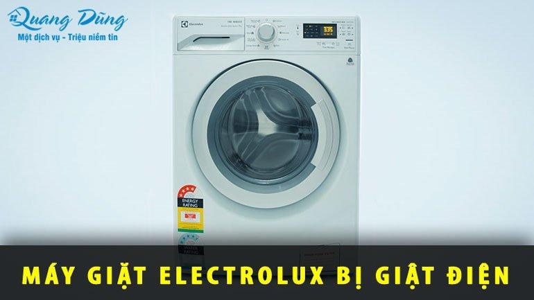 máy giặt electrolux bị giật điện