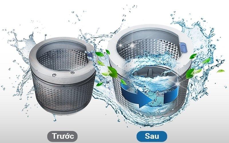 làm vệ sinh lồng máy giặt electrolux