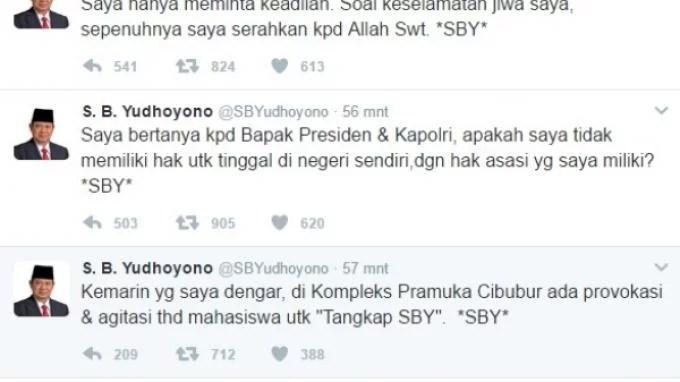 Didemo Mahasiswa, SBY Curhat di Twitter