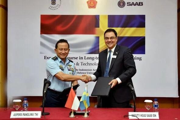 Jalin Kerjasama di Bidang Pertahanan, Perusahaan Swedia Beri Anggota TNI Beasiswa