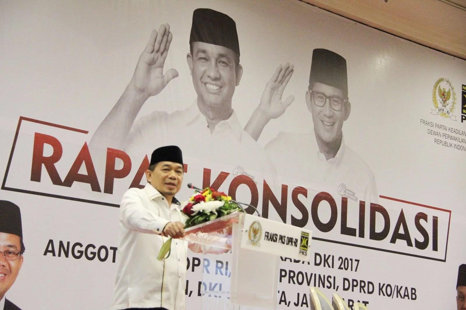 Ahok-Djarot Lawan Berat, PKS kerahkan Kader dari 3 Provinsi Bantu Anies-Sandi