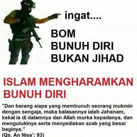 Ingat! Bom Bunuh Diri Bukan Jihad