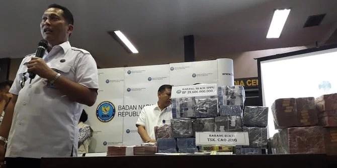 BNN Ungkap Kasus Pencucian Uang Senilai Rp 39,6 Miliar dari Bandar Narkoba