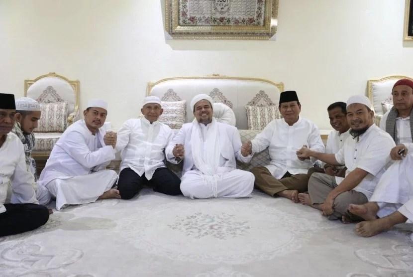 Amien Rais dan Prabowo Silaturahim dengan Habib Rizieq di Mekkah