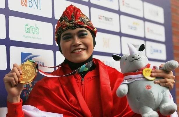 Pesilat Puspa Arumsari Raih Emas ke-13 Indonesia di Asian Games 2018