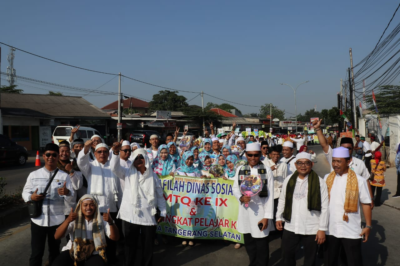 Pawai Ta'aruf Lomba MTQ Kota Tangerang Selatan Berlangsung Meriah