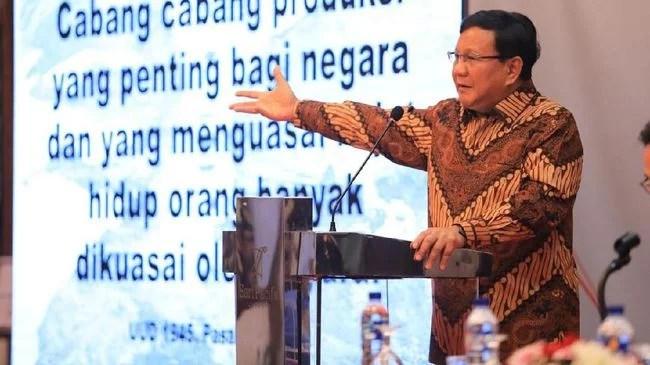 Di Depan 300 Eks Jenderal, Prabowo: Indonesia Hanya Mampu Perang Tiga Hari