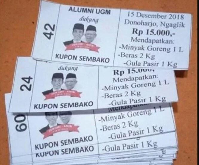 Alumnni UGM Pendukung Jokowi-Ma'ruf Tepis Tuduhan Politik Uang di Kupon Sembako