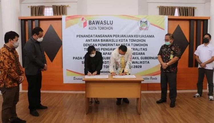 Pertama di Sulut, Pemkot Tomohon Gandeng Bawaslu Awasi Netralitas ASN