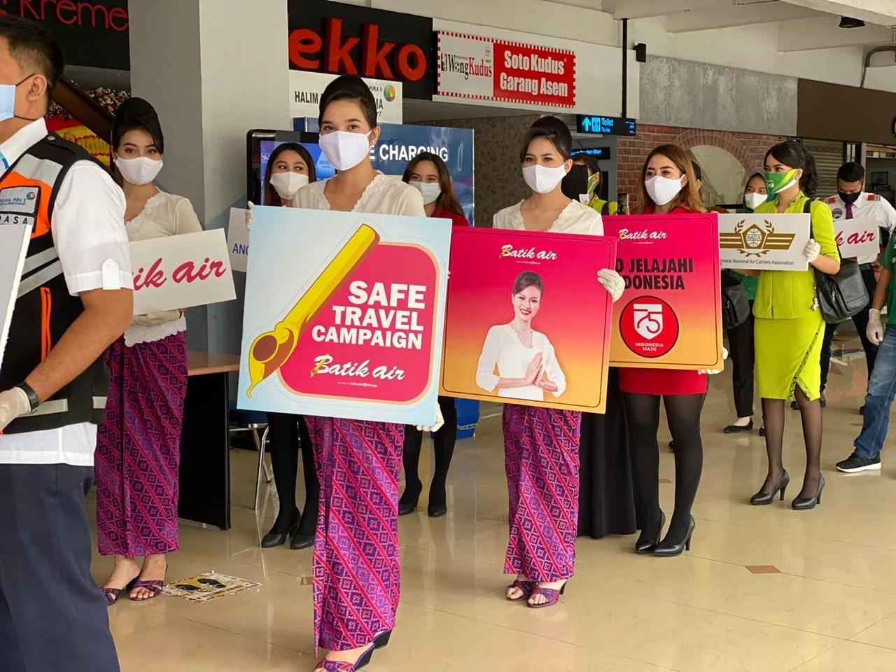 Wings Air dan Batik Air Turut dalam Safe Travel Campaign di Halim Perdanakusuma