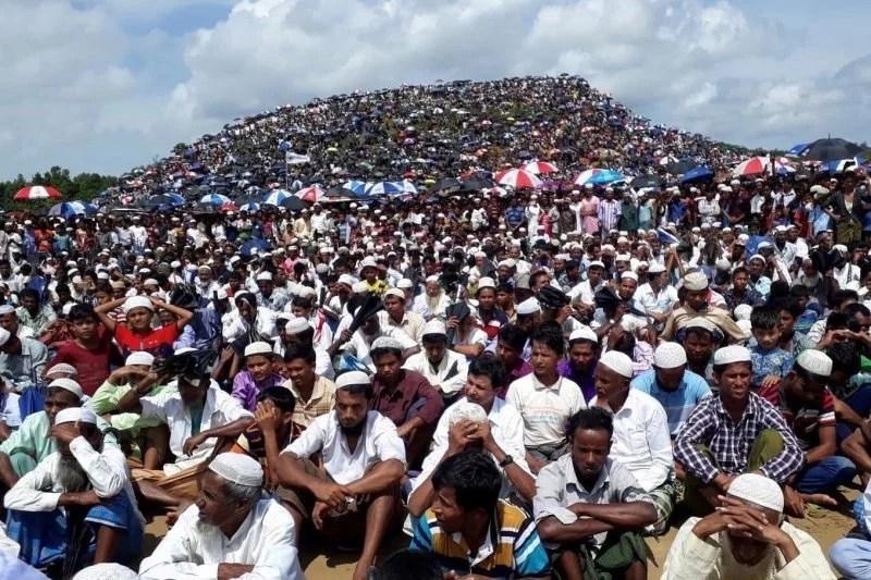 Muslim Rohingya Bantu Pengungsi Etnis Buddha Myanmar