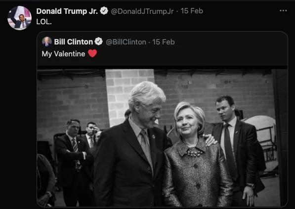 Gara-gara Caption Valentine, Memori Skandal Clinton Menyeruak Lagi