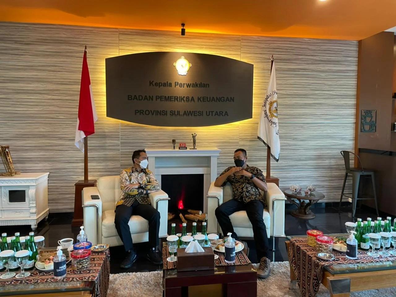 Sahrul-Oskar Lakukan Kunjungan Silaturahmi dengan Kepala BPK RI Perwakilan Sulut