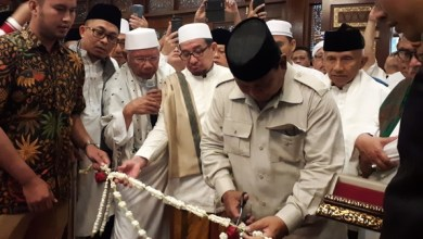Photo of Didampingi Ulama dan Tokoh, Prabowo Resmikan Masjid Nurul Wathan di Hambalang