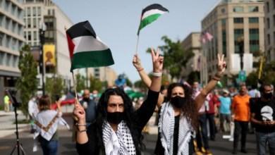 Photo of Aksi Menentang Normalisasi dengan Israel di Depan Gedung Putih
