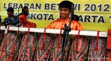 10092012 Beragam alat musik pukul dapat ditemui di berbagai anjungan pemerintah daerah DKI