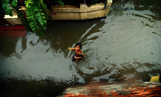Banjir di Kecamatan Makasar, Jakarta TImur. (Foto: Khairuddin Safri)