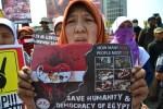Aksi Mengecam Pembantaian oleh Militer Mesir