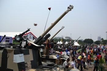 Beberapa Tank Meriam yang digunakan oleh satuan Armed TNI AD sejak tahun 1982.. (Foto: Fajrul Islam)