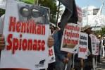 Masa FPI dan HTI demo di depan Kedubes Australia (22/11) Kuningan, Jakarta. (Foto: Fajrul Islam)