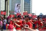 Kampanye Pendukung Capres Jokowi dan Prabowo di CFD Jakarta