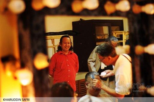 "Gladi Resik Pementasan teater ""Penghuni Kapal Selam"". (Foto: Khairuddin Safri/SuaraJakarta)"