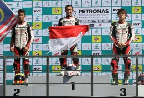 Suara Jakarta Pebalap Honda Indonesia Kuasai Podium Tertinggi di Asia Dream Cup