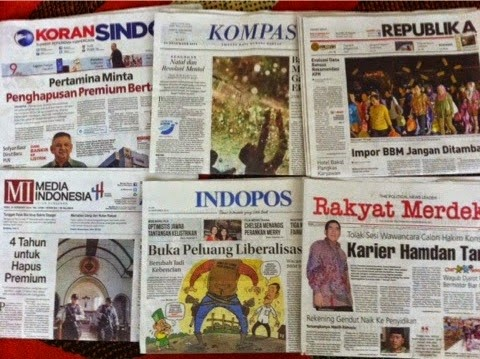Headline Harian Nasional 24 Desember 2014