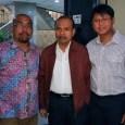 Dewan Kota Jakarta Pusat, Ardy Purnawan Sani saat bersama Kepala Bappenas, Andrinov Chaniago dan Azas Tigor (FAKTA)