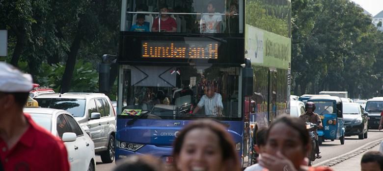 Mobil pariwisata gratis yang disediakan Pemprov DKI. (Foto: Fajrul Islam/SuaraJakarta)