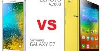 Samsung Galaxy E7 vs Lenovo A7000, Mana Lebih Tangguh?