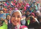 Jaga Kebugaran, Aktris Berhijab Laudya Cynthia Bella Rutin Konsumsi Jus Sayur dan Buah