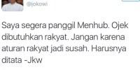 """Panggil Menhub Soal Larangan Ojek, Jokowi Malah """"Dirasani"""" di Instagram"""