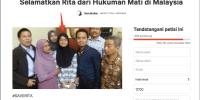 Lagi, TKI Divonis Gantung di Malaysia. Netizen Galang Dukungan Lewat Petisi