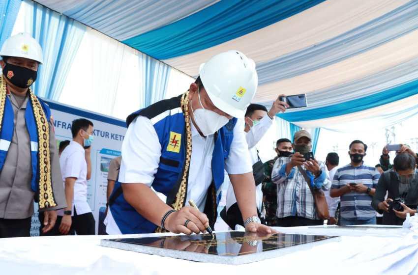 Resmikan Gardu Induk PLN, Gubernur Arinal Dorong Pembangunan Kelistrikan Di Provinsi Lampung