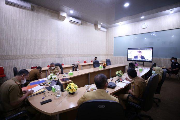 Pemprov Lampung Ikuti Lokakarya Pengendalian Perubahan Iklim dan Dampak Pandemic Covid-19 oleh Kementerian PPN