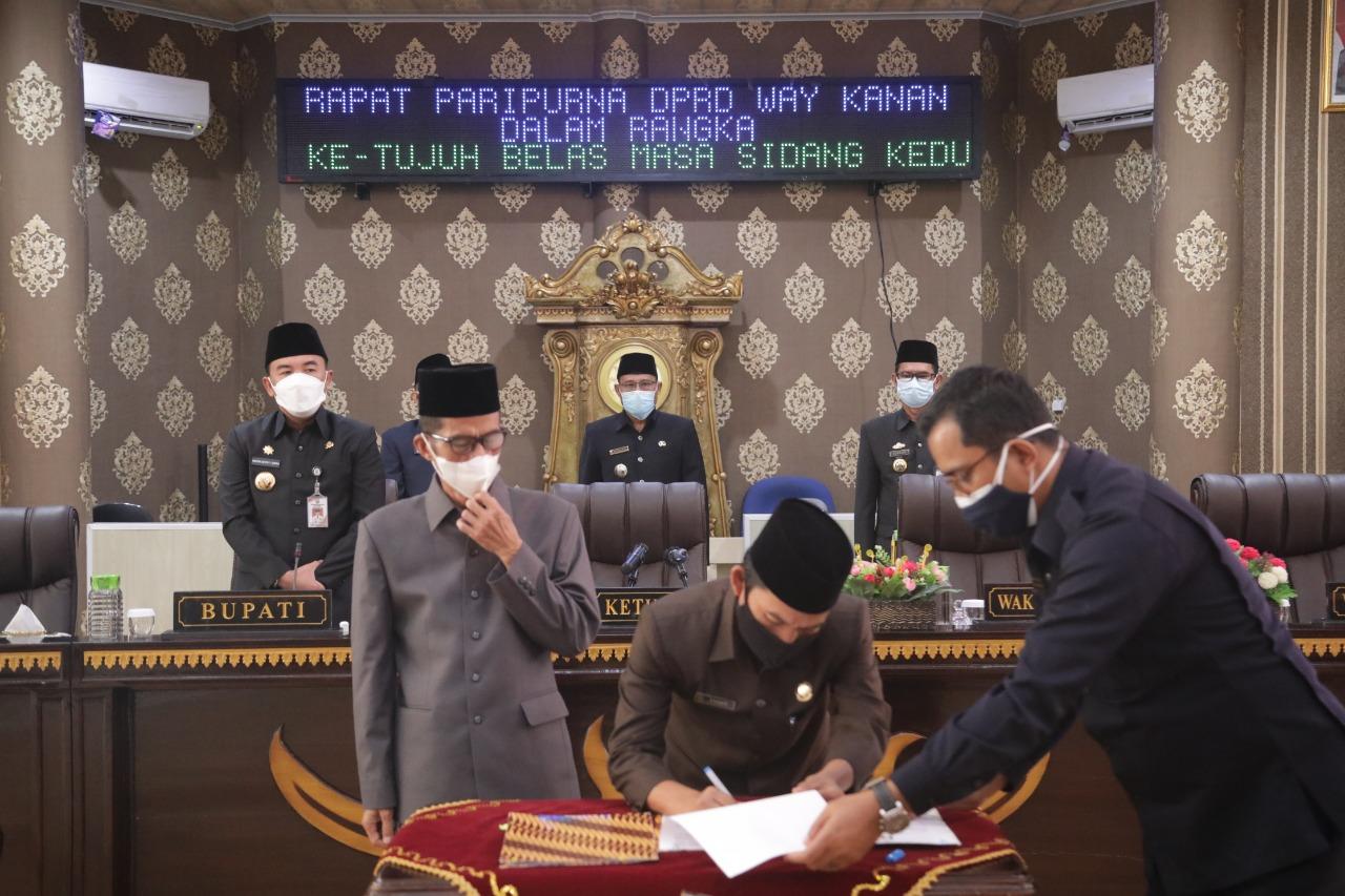 Bupati H. Raden Adipati Surya, S.H.,M.M menghadiri Rapat Paripurna DPRD Pengumuman Hasil Penetapan Calon Bupati dan Wakil Bupati Terpilih
