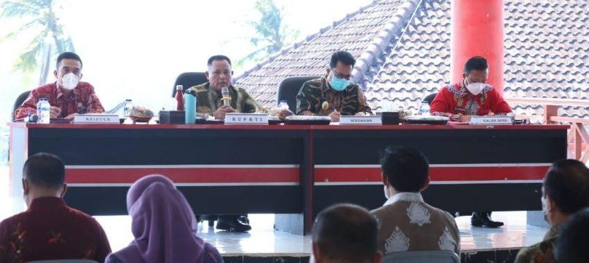 Turun Ke Level 3 Bupati Lampung Selatan Langsung Evaluasi Penanganan  Covid -19
