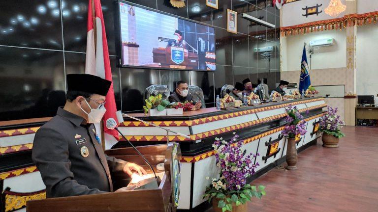 DPRD Metro Gelar Paripurna Raperda Perubahan APBD 2021 dan Pelestarian Cagar Budaya