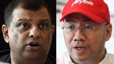 Photo of Tony Fernandes dan Kamarudin Meranum letak jawatan
