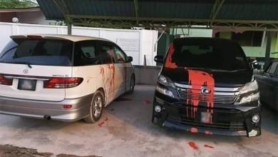 Photo of Estima dan Vellfire exco Terengganu disimbah cat merah